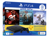 Игровая консоль Sony PlayStation 4 1TB/GT Sport, God of War, Horizon Zero Dawn,PS+3 (CUH-2208B)