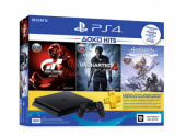 Игровая консоль Sony PlayStation 4 500GB/GT Sport, Uncharted 4, Horizon Zero Dawn, PS+3 (CUH-2208A)
