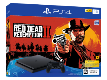 Sony PlayStation 4 Slim 1TB Red Dead Redemption 2